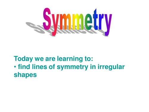symmetry power point by hjack teaching resources tes