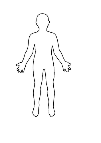 an outline of a person