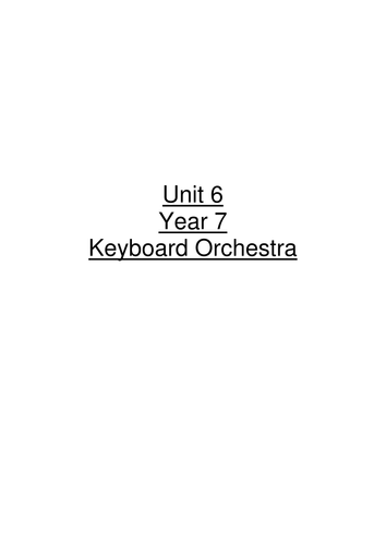 Unit for Keyboard orchestra