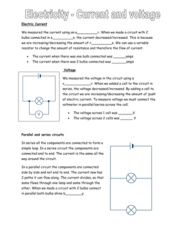 Voltage and Current worksheet by david_worden - Teaching Resources ...