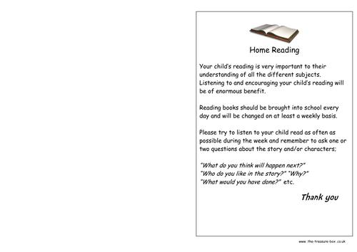 Home School Reading Record