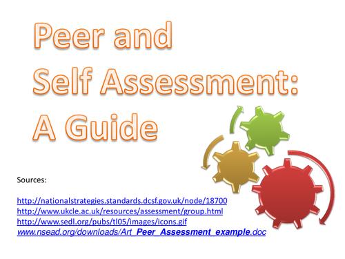 Peer and Self-Assessment Guide