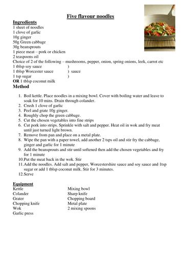 chinese recipe KL
