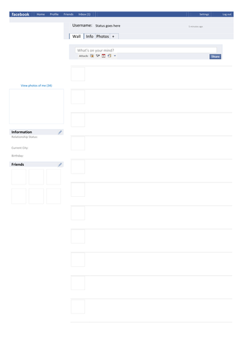 Facebook Template Page By Tafkam Teaching Resources Tes