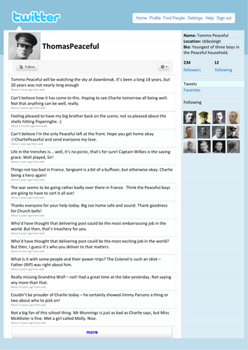 Twitter template by tafkam teaching resources tes pronofoot35fo Image collections