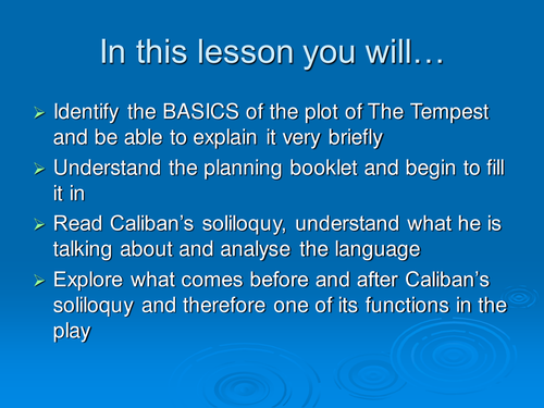 The Tempest: a summary and Caliban's soliloquy