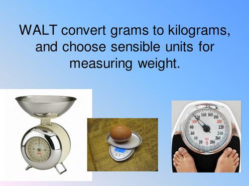 Grams to kilograms conversion powerpoint by hannahincanada – Grams and Kilograms Worksheet