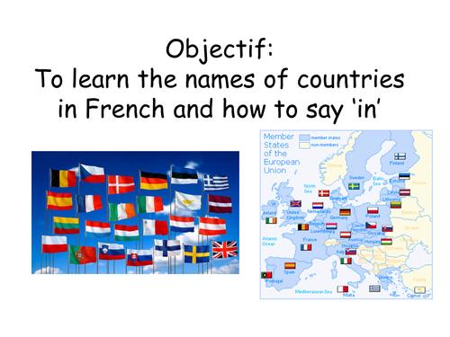 Les pays - ou habites tu?