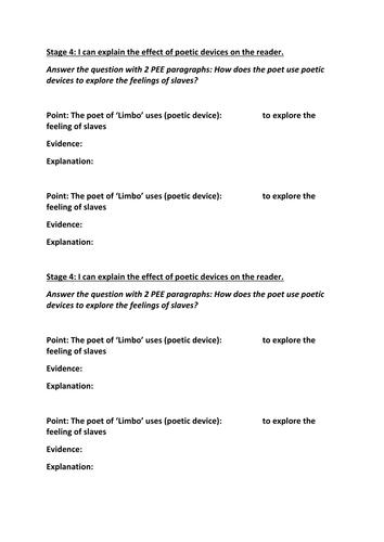 limbo poetry analysis
