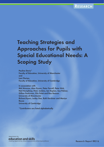 Teaching Strategies and Approaches for Pupils with SEN