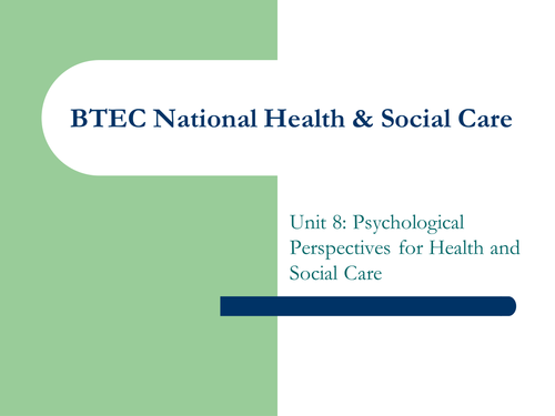 applying perspectives to health and social Behaviourist approach within a health and social care setting no description by k r on 26 july 2012 tweet comments (0) please log in to add your comment.