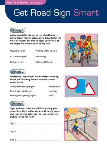 Get road sign smart by godspeed120 - Teaching Resources - Tes