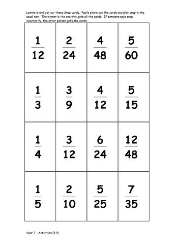 Matching Fractions Worksheet & fraction worksheets