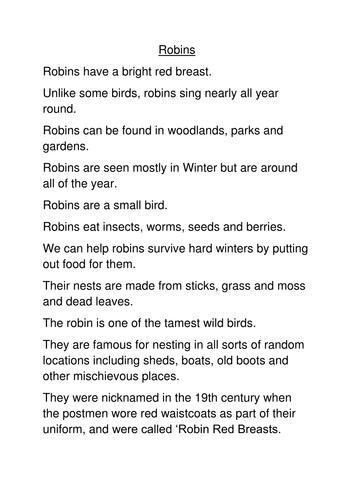 robin facts
