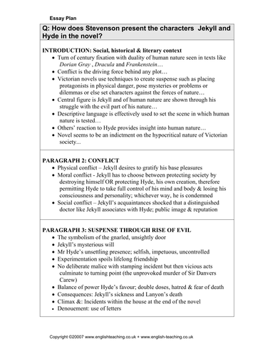 High School Essays Examples Jekyll And Hyde What View Of Human Nature Does Stevenson Present In Jekyll  And Hyde Essay Stevensons Dr Jekyll And Mr  Business Cycle Essay also English Essay Short Story Jekyll And Hyde What View Of Human Nature Does Stevenson Present In  Examples Of A Proposal Essay