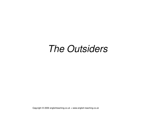 The Outsiders by Alessia13 | Teaching Resources