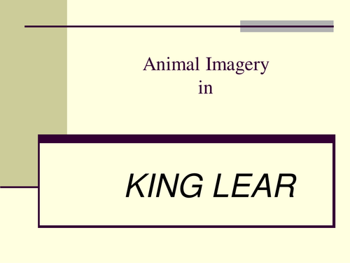 King Lear by Shakespeare Printable Worksheets by TesEnglish – Imagery Worksheets