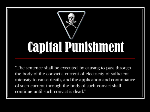 Capital Punishment powerpoint for persuasive writing or speeches