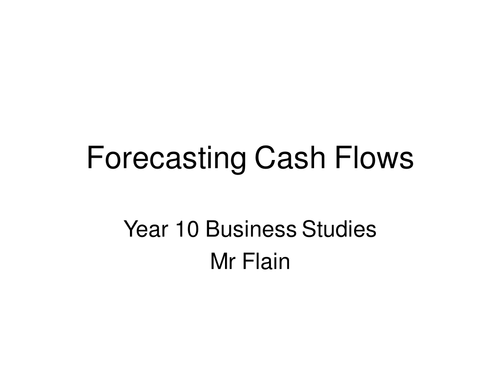 cash flow forecasting worksheets by ormsbys teaching resources tes