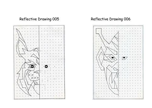 Worksheets Reflection Worksheet reflective drawing line of symmetry reflection by prt1960 teaching resources tes