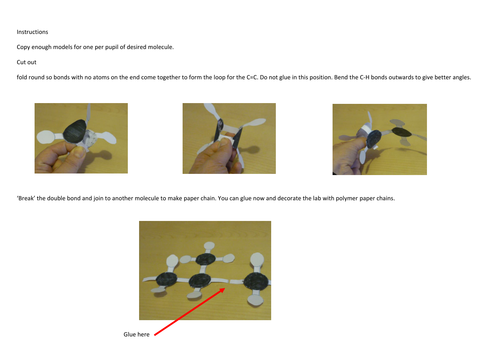 Polymer paper chains