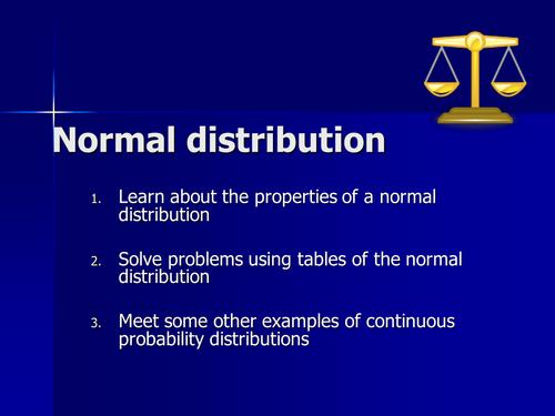 Statistics 1 Normal Distribution