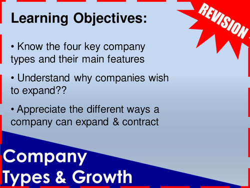 Company Types & Growth Revision