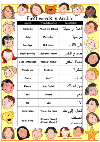 Useful Words And Phrases In Arabic By Thetreasurebox Teaching