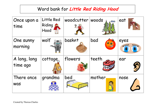 Little red riding hood - story map | Teaching Resources