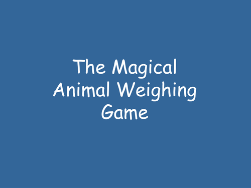 Animal <em>Weighing</em> Quiz (Powerpoint) Y2/Y3