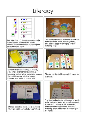 TEACCH workstation ideas (Autism/ASD)