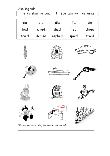 spelling worksheet ie by coholleran teaching resources. Black Bedroom Furniture Sets. Home Design Ideas