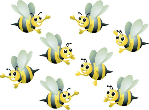 Count the honey bees! (counting to 5)