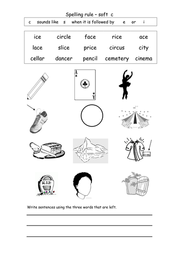 spelling soft c by coholleran teaching resources tes. Black Bedroom Furniture Sets. Home Design Ideas