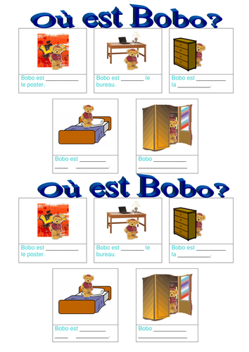 french prepositions dans ma chambre by lydiadavies teaching resources. Black Bedroom Furniture Sets. Home Design Ideas