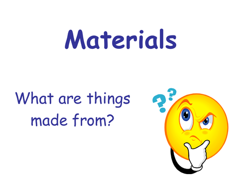 Manmade and Natural materials by  UK Teaching Resources  TES