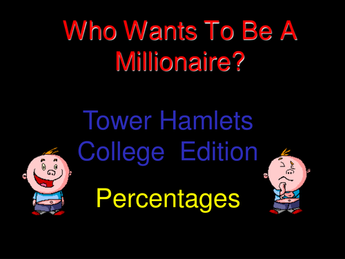 Who wants to be a millionaire? - Percentages