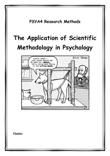 PSYA4 Research methods workbook