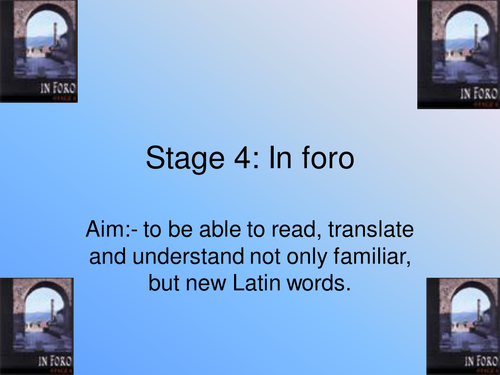 Stage 4 In foro