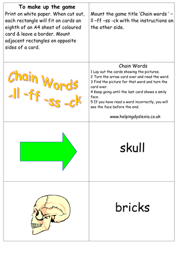 Reading and Spelling Resources for ll ff ss ck by mags2612 ...