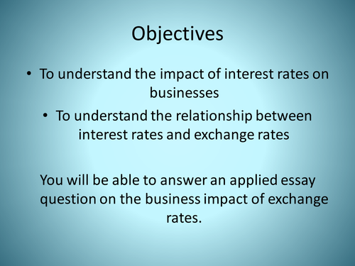 1 write a short note on interest rate parity system for exchange rates Exchange-rate determination lecture notes & exercises exchange rates respond to real interest rate given a system of floating exchange rates.