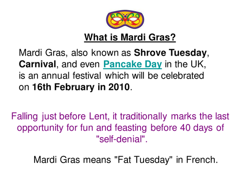 mardi gras powerpoint