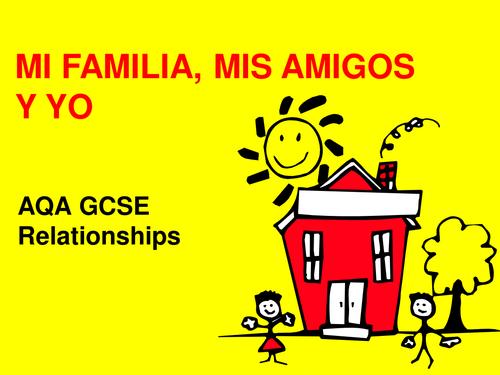 AQA Sp GCSE p52/53 Mi familia, mis amigos y yo