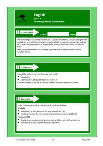 Functional Skills English Level 2 Resources