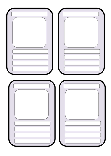 Blank Educational Top Trumps Template.