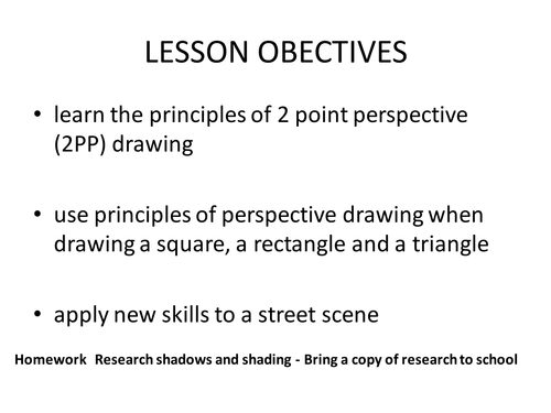 Perspective Drawing Resources