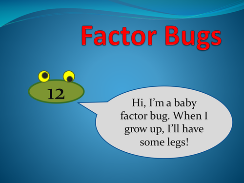 Factor Bugs (inc Prime numbers) game