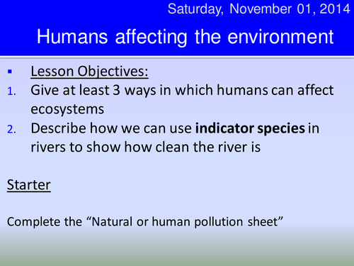 natural or human pollution ppt HT