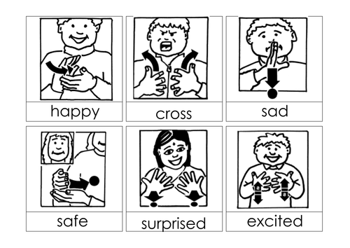 Emotions Signs Bsl By Ibuzzybea Teaching Resources Tes
