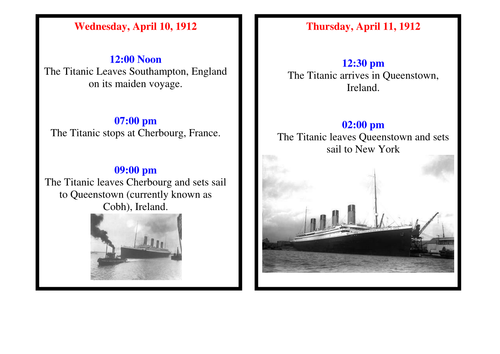54658973 Titanic History Detectives Lesson by lukige_uk | Teaching Resources
